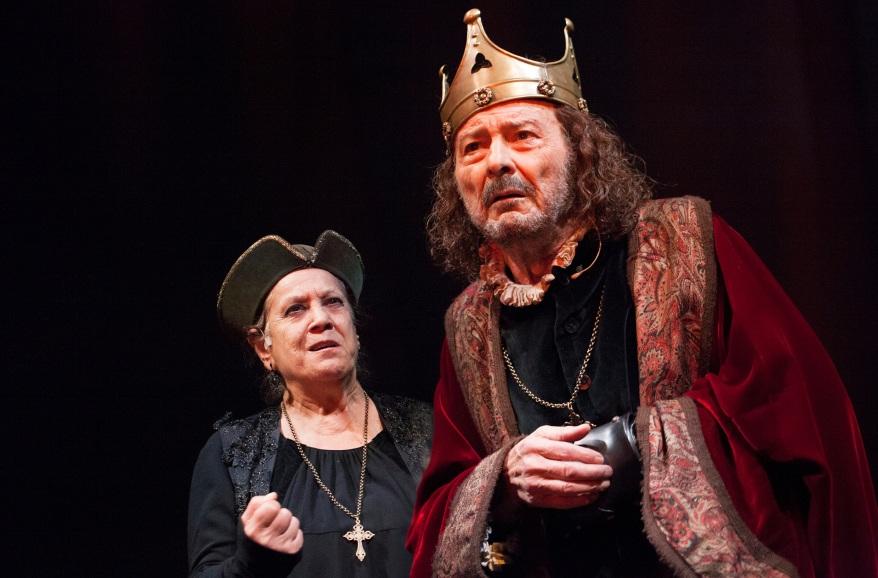 Terele Pávez y Juan Diego, en 'Sueños y visiones del rey Ricardo II'. Autor: Sergio Parra