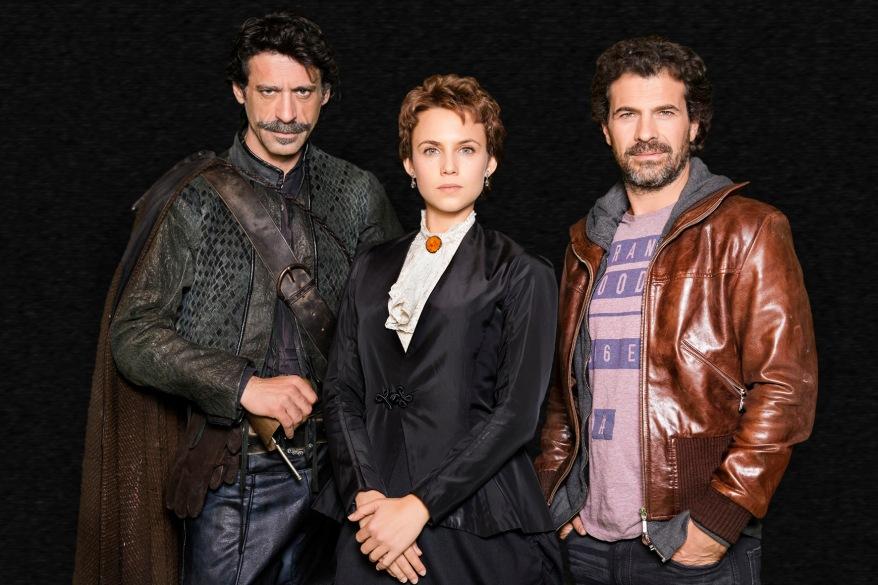 Nacho Fresnedo, Aura Garrido y Rodolfo Sancho, la patrulla del Ministerio del Tiempo.