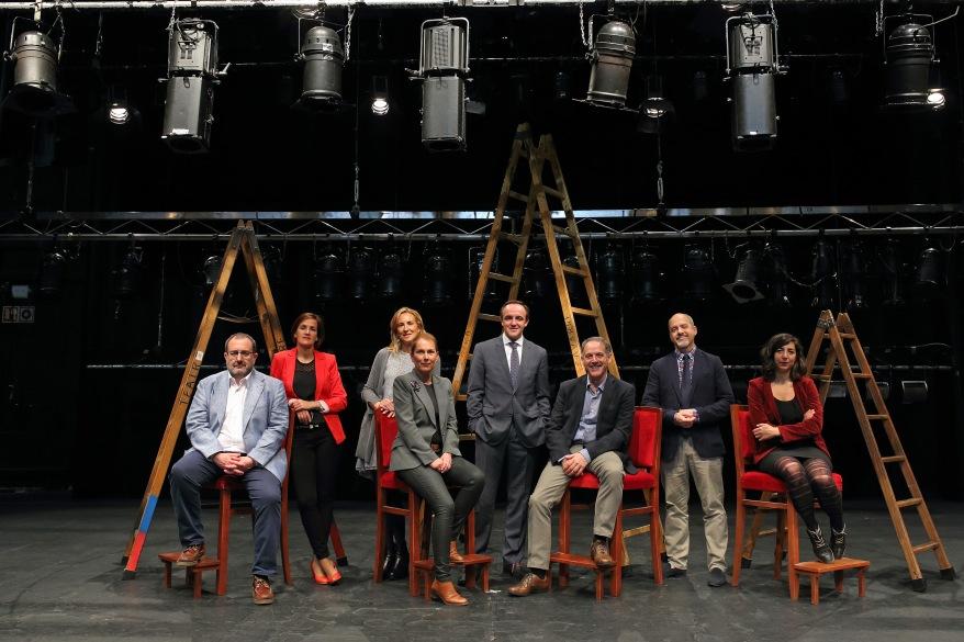 Los candidatos, en el Gayarre.